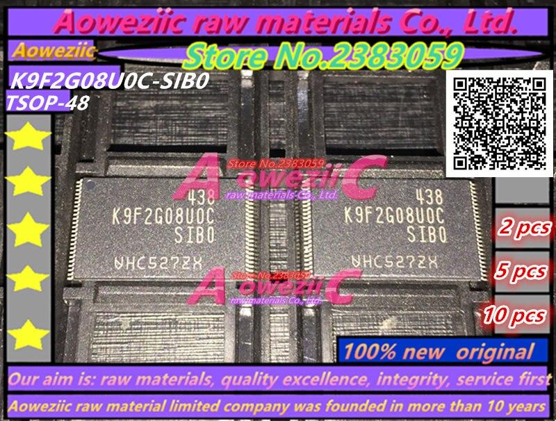 Aoweziic 100% ew original K9F2G08U0C-SIB0 K9F2G08U0C-SIBO TSOP48 chip de memoria K9F2G08U0C SIB0