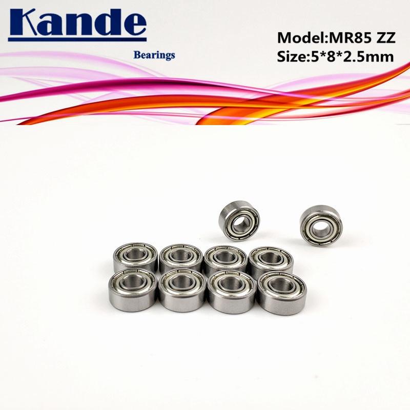 Подшипники Kande 10 шт. MR85ZZ 5x8x2,5 MR85 миниатюрный шариковый подшипник MR85 ZZ