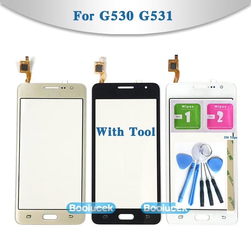 "5,0 ""para Samsung Galaxy Grand Prime Duos G530 G530H G530F G5308 G531 G531H G531F Sensor de pantalla táctil digitalizador Panel de cristal frontal"