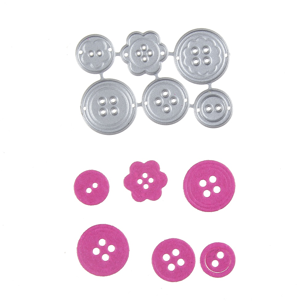 Hemere Mix Hole Button Set Metal Cutting Dies Stencils for DIY Scrapbooking Card Making Decor 2019 new embossing craft die cut