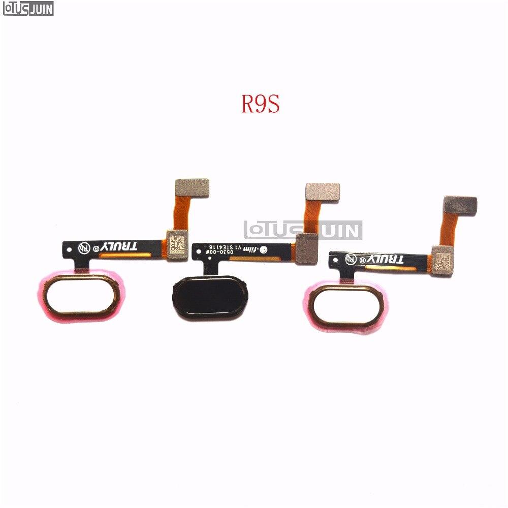 PCS Para OPPO R9S 10 Tecla Return Home Button Menu de Impressão Digital Reconhecimento Sensor Flex Cable