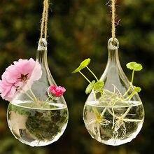 Verre rond transparent de 3 styles   Nouveau style, verre chaud, avec 1 trou, support de plante de fleur suspendu, Vase hydroponique, décor de mariage, de bureau, de maison