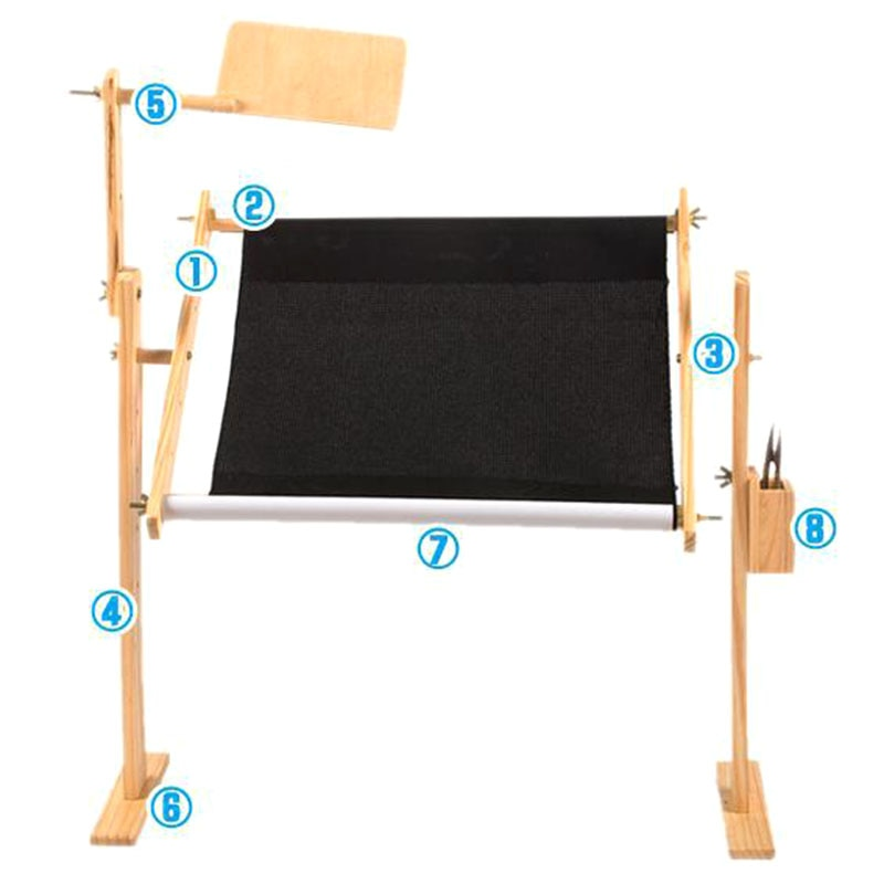 Nuevo estante de madera maciza de punto de cruz, soporte de madera ajustable, marco de bordado de punto de cruz de escritorio TE889