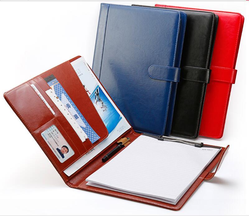Высококачественная портативная папка для документов из искусственной кожи, папка для документов формата А4, папка-Портфель для документов ...