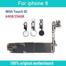 Freies iCloud für iphone 8 Motherboard mit Touch ID/ohne Touch ID, original entsperrt für iphone 8 Mainboard mit Voller Chips