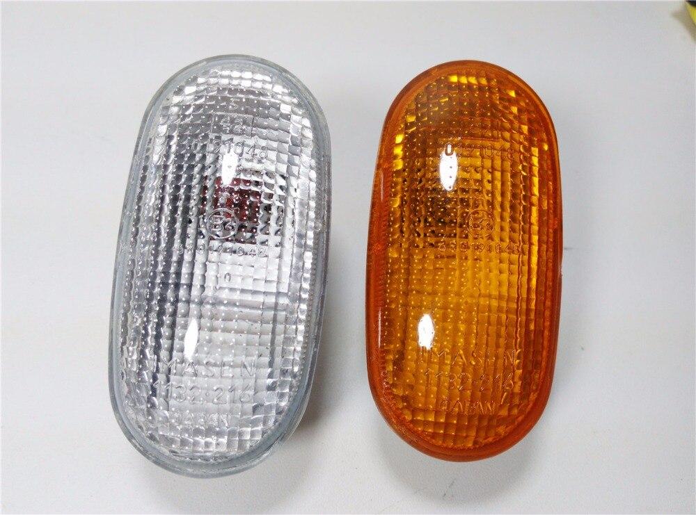 Lámpara lateral, luz de giro lateral, lámpara individual para Pajero Montero V33, amarillo y tipo blanco, de alta calidad, precio de fábrica