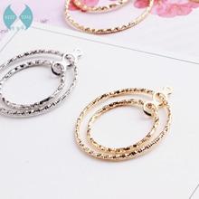 Double Circle Pendant Pendant Earrings simple semi Earrings Handmade DIY Korea ear jewelry accessories material