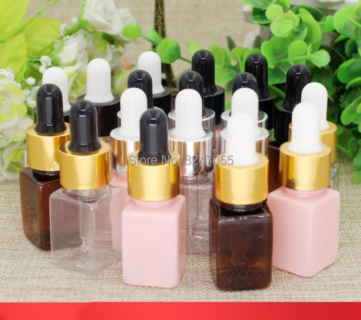 10ML 30pcs 50pcs Plastic Square Cosmetic Essence Package, Women Beauty Essential Oil Bottle, Cosmeti
