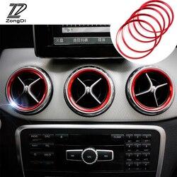 Estilo do carro ar condicionado saída de ventilação ar anel capa guarnição decoração para mercedes benz a b classe w246 w176 amg acessórios