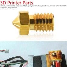 3D Printer Accessoires V5 V6 M6 Schroefdraad Nozzle 0.2 0.25 0.3 0.4 0.5 0.6 0.8 1.0 Mm Voor 1.75 Mm 3.0 Mm Filamet
