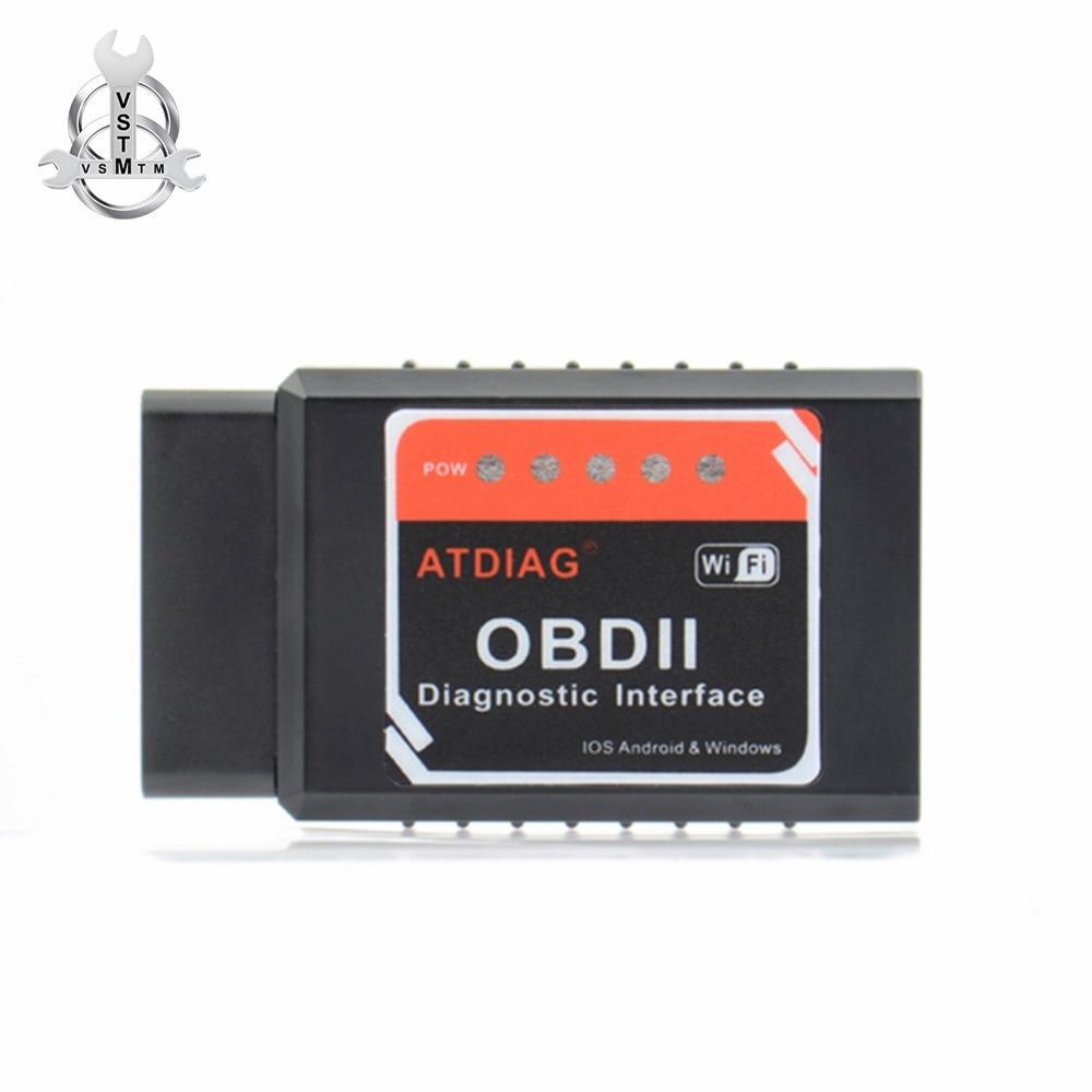 Universal OBD2 WIFI ELM327 V 1.5 Scanner for iPhone IOS Auto OBDII Scan Tool OBD 2 ODB II ELM 327 V1.5 WI-FI ODB2