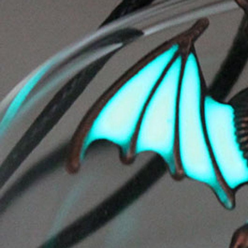 Светится в темноте dragon, светящиеся кулоны в стиле панк и ожерелье Dragon, свитер-амулет, цепь, рождественский подарок