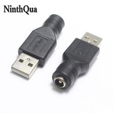 Prise femelle à USB 5.5x2.1mm 1 pièce   Prise mâle 2.0, prises dalimentation 5V DC, connecteur adaptateur ordinateur portable