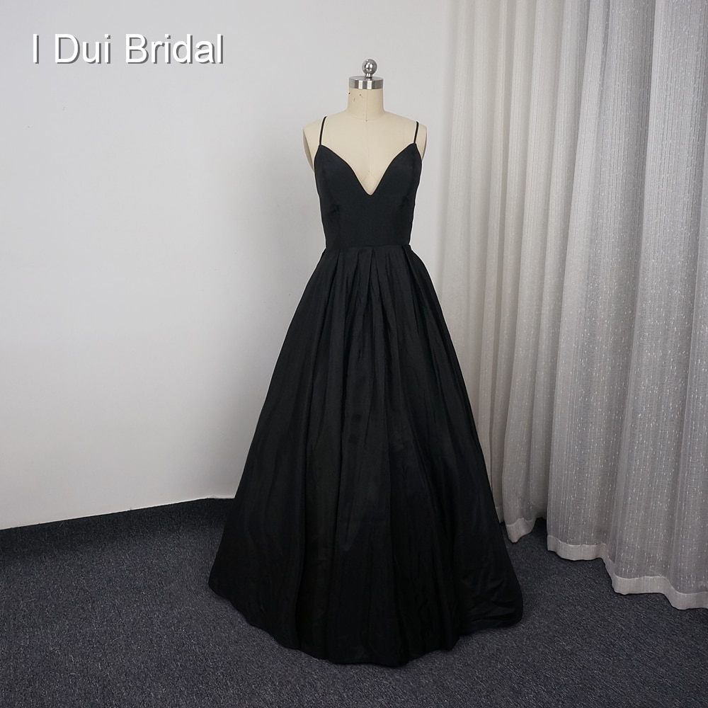 Spaghetti Strap Black Homecoming Dresses A line Criss-cross Back Custom Made Prom Party Gown