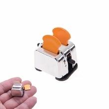 Cuisine classique jouets maison de poupée Machine à pain 112 maison de poupée Miniature Machine à pain avec tranches de pain pour accessoire de décor de maison de poupée
