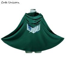 Vente attaque sur Titan Cape Shingeki no Kyojin Scouting légion Cosplay Costume anime cosplay vert Cape hommes vêtements