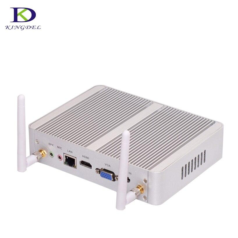 Pequeñas palmeras Mini PC Windows 10 sin ventilador Barebone Intel N3150 Quad Core Max TV Box Nettop computadora 2,08 GHz 2M Cache con VGA HDMI