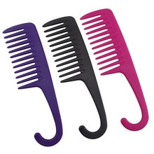 Grands peignes à dents larges avec brosses à crochet incurvées démêlant les grandes dents coiffure réduire la perte de cheveux peigne Salon outils de coiffure