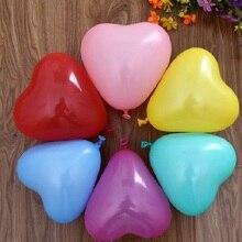 10 sztuk Party klepie piłki nadmuchiwane klepie zabawki dla dzieci prezenty w kształcie serca w kształcie serca balon wakacje urodziny ślub DIY lateksowe balony