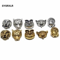 wholesale 1020 pcs fox owl buddha head spacer beads charm diy bracelets necklace for jewelry making accessories