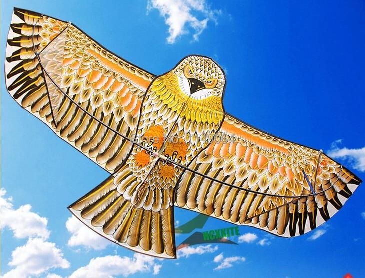 Фото - Бесплатная доставка, высококачественный змей с золотым орлом 2 м с ручкой, игры для змей, птичий змей, китайский змей, летающий дракон hcx огненный змей