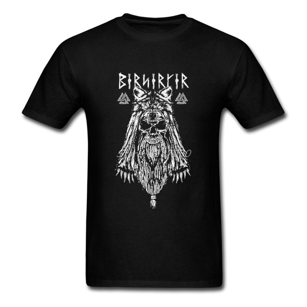Vikings T Shirt Short Sleeve Mens T Shirts Fashion 2020 Summer Online Plus Size Cotton Crewneck Viking Metal Men T-shirt