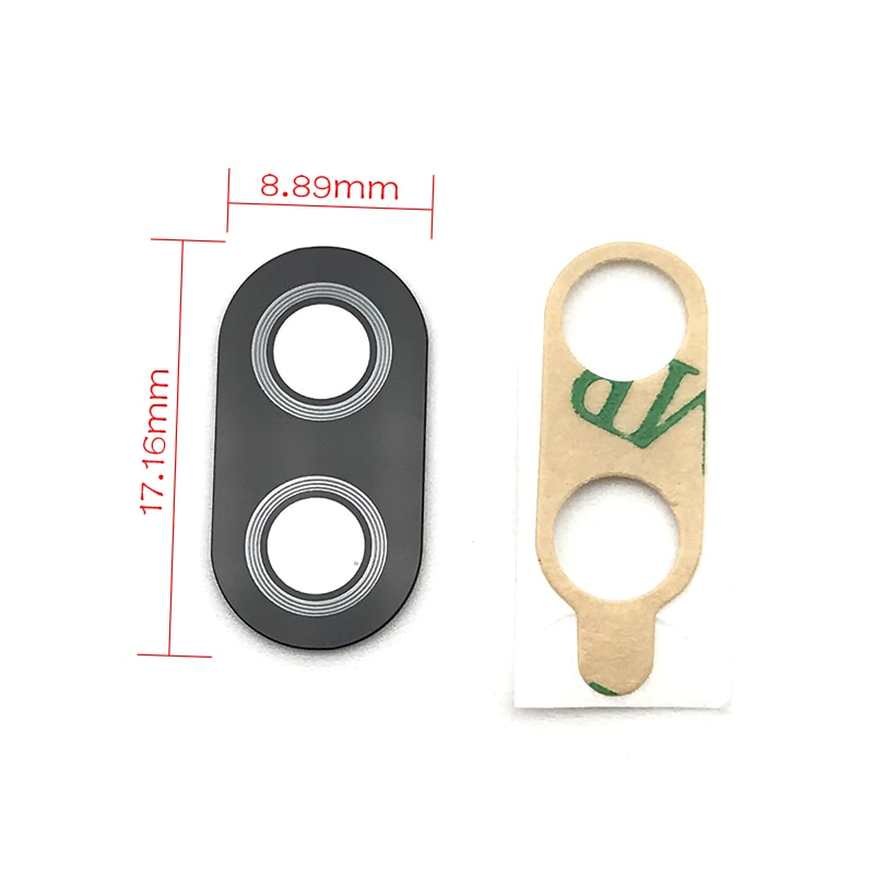 "2 unids/lote para Asus Zenfone 4 MAX ZC520KL 5,2 ""ZC554KL 5,5"" lente de cristal de la cámara trasera principal"