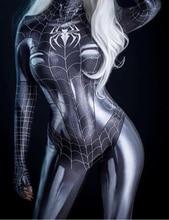 Zwarte Kat Symbiont Spider Meisje 3D Print Goedkope Spandex Spider Vrouw Cosplay Kostuum Zentai Bodysuit Hot Koop Freeshipping