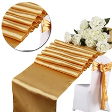 High Quality Satin Tablecloths Wedding Decoration Satin Table Runner Flag Modern Silk Tablecloth Table Flag Easy To Clean Store