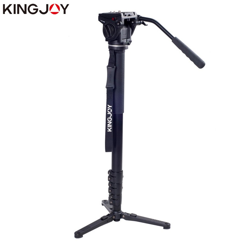 KINGJOY Official MP4008+VT-3510 Professional Monopod Dslr For All Models Camera Tripod Stand Para Movil Flexible Stativ SLR DSLR
