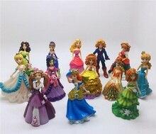 Dsn 신선한 원래 공주 인형 장난감 백설 공주 벨라 아리엘 재스민 신데렐라 rapunzel pvc 그림 완구 어린이를위한 선물
