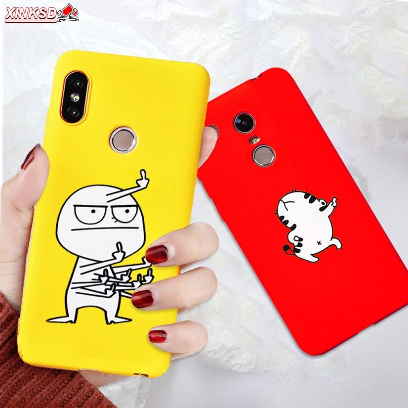 Funda de silicón suave TPU para Xiaomi mi A1 5X mi A2 Pocophone F1 Redmi 5 Plus rojo mi nota 5 6 pro Simple EXFOLIANTE SUAVE cubierta posterior