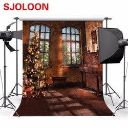 Sala de natal fundo da janela de natal imagem fundo natal fotografia fundos fond studio foto vinyle300x300cm