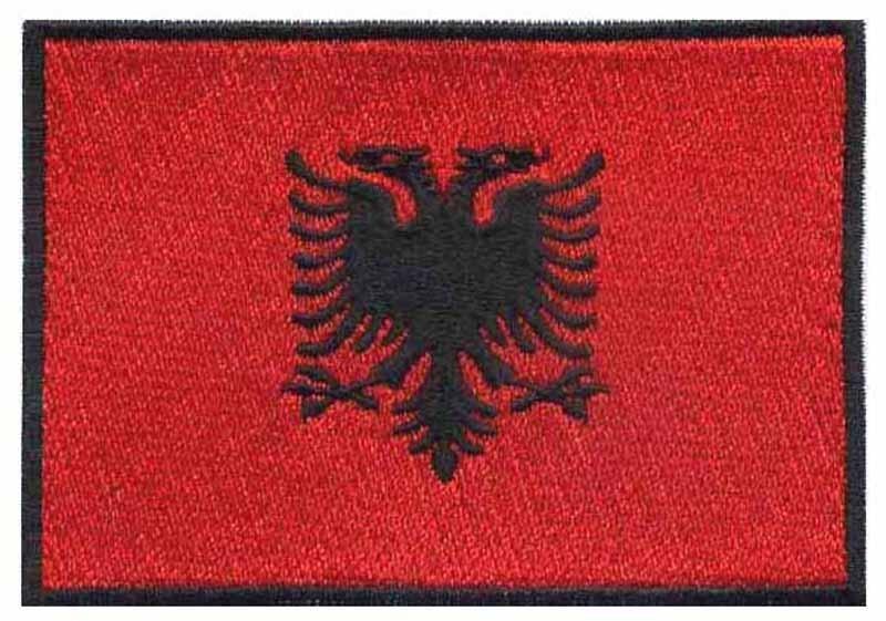 Parche de bandera bordada de Albania-suministros de costura envío gratis