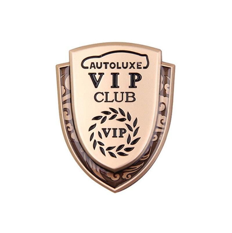 Золото VIP пшеничный Щит Эмблема autolux клуб владельцев значок для BMW BENZ Audi Land Rover Jaguar Стиль боковое окно багажник наклейка