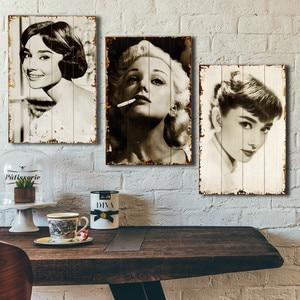 1Pcs Fashion Restoring ancient ways nostalgia Printed Wood xylograph Coffee bar Creative wall act metope adornment Wall hanging