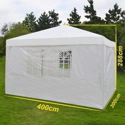Grntamn 4 sidewall 4x3m festa casamento tenda dossel gazebo resistente ao ar livre