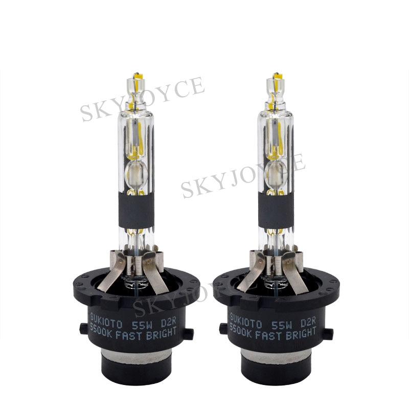 55W Fast Bright 5500K HID D2S D4S Bulb 4300K 5000K D2S D4S HID Bulb D2R D4R 6000K 8000K Metal Base Car Headlight D2S D4S Bulbs