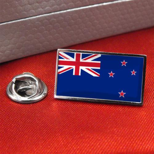 De insignias de la bandera de alta calidad Bandera de Nueva Zelanda de metal Pin para solapa con insignia Pin de corbata personalizada de fábrica insignia de solapa