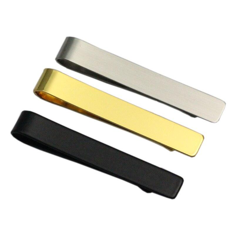 Мужской металлический зажим для галстука, из нержавеющей стали, 8 сезонов, черный/серебристый