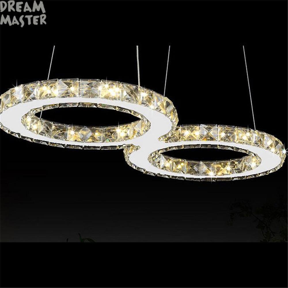 modern crystal pendant lights 60*30cm 24W leds light Ceiling mounted LED pendant lamp for home livingroom bedroom dining room