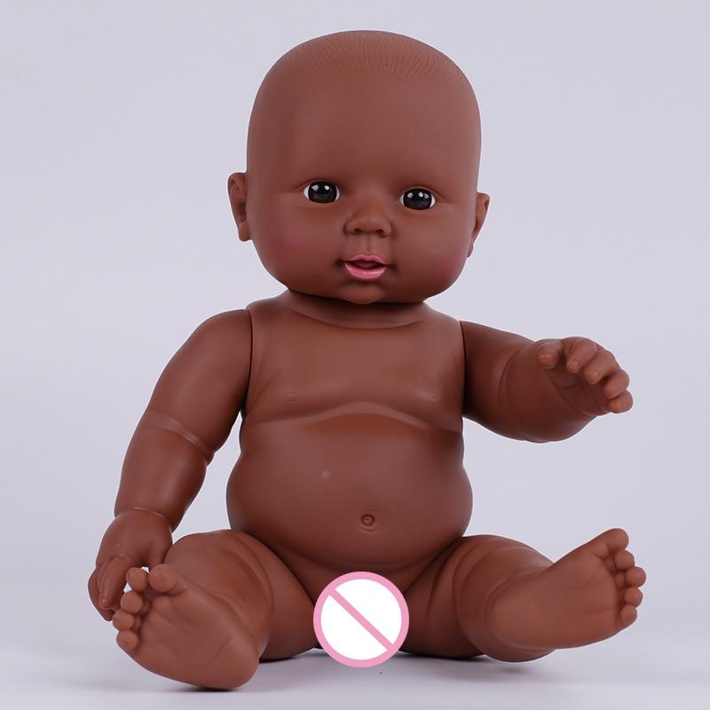 Кукла Reborn, черная, для новорожденных, 30 см, мягкая, виниловая, Реалистичная, для детей, для девочек, для ролевых игр, подарок на день рождения