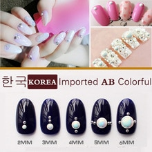 1000 pièces 3D importé coréen mode Pure céramique AB coloré Nail Art conseils perles paillettes pierres précieuses manucure bricolage décorations