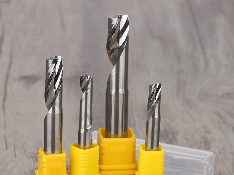 2 шт. одиночные фрезы Фреза для алюминия CNC инструменты твердосплавные CNC плоские концевые фрезы, алюминиевые композитные панели