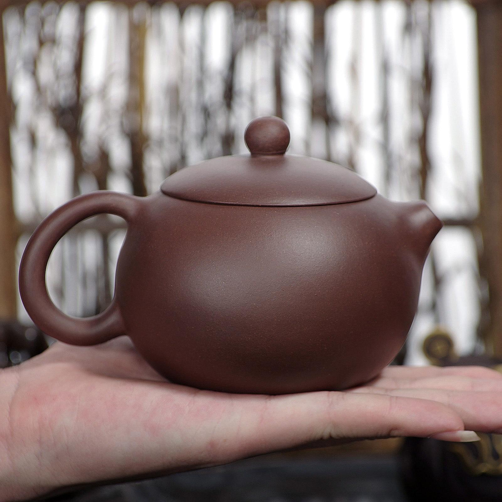 بيوتي-إبريق شاي Yixing Xi Shi Yixing ، صناعة يدوية ، إبريق شاي كونغ فو ، طين أرجواني ، خام 018