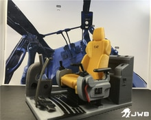 Remote control hydraulic excavator shell cab Simulation seat accessories for 1:12 1:14 CAT excavator pushdozer crane model