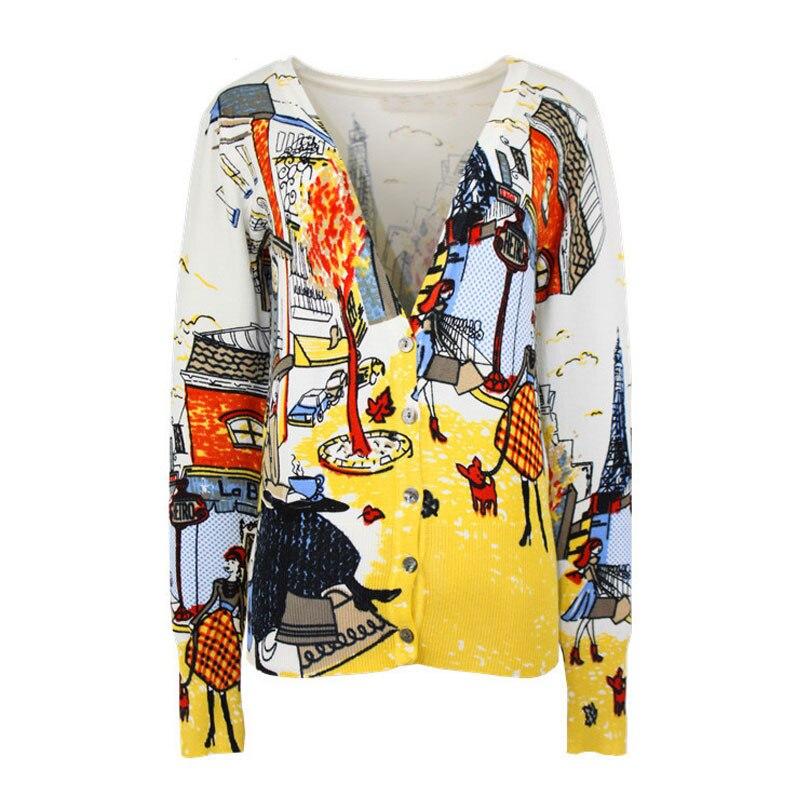 Chaquetas de punto de leopardo para mujer 2019 primavera y otoño corto estampado entallado de manga larga suéter Abrigos Mujer OL suéteres de punto