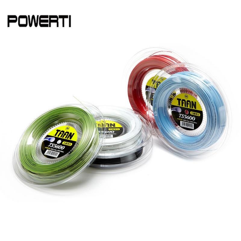 TAAN 5600 1.15mm one reel Tennis String Fusion Poly High Elasticity Durable Tennis Racket Training String 200m TS5600 tour xc 17l tennis string reel black
