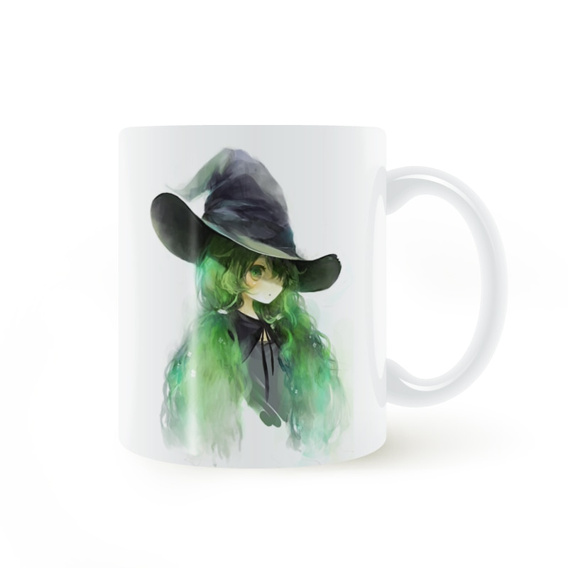 Greenhair bruja taza café leche cerámica taza regalos creativos DIY decoración del hogar tazas 11 oz T479