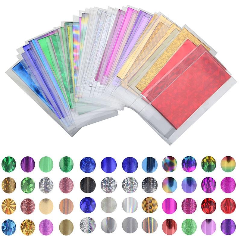 48 estilos universo prego arte adesivos 35cm * 4cm mix cor transferência folha arte do prego estrela design adesivo decalque polonês cuidados diy